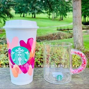 💕LAST FEW💕Starbucks Confetti Heart Mug & Hot Cup